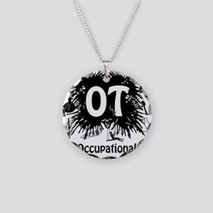 OT Splash Necklace Circle Charm